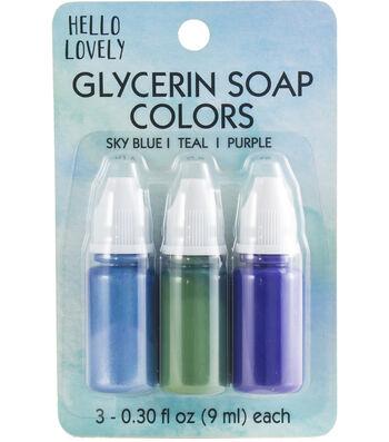 Beauty Soap Color-Blue, Teal & Purple