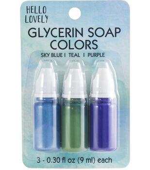 Hello Lovely 3 pk Beauty Soap Colors-Blue, Teal & Purple