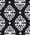 Anti-Pill Plush Fabric 58\u0022-Black & White Damask
