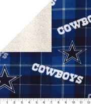 Dallas Cowboys Sherpa & Fleece Fabric-Plaid, , hi-res