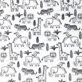 Nursery Warm Fabric-Sweet Safari Strolling Animal