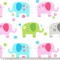 Novelty Cotton Fabric-Elephants