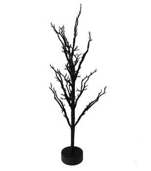 Maker's Halloween 26'' Spooky Ornament Tree Table Decor-Black
