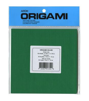 "Origami Paper 5.875""X5.875"" 50/Pkg-Green"
