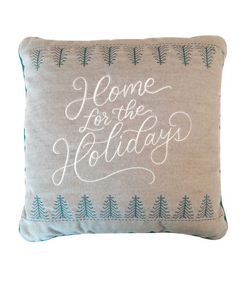 Maker's Holiday Christmas Pillow-Home for the Holidays
