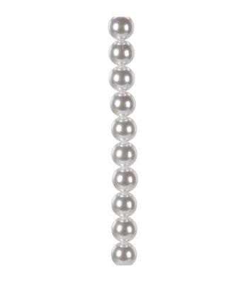 "7"" Strand Pearl AB Beads, 18mm White"