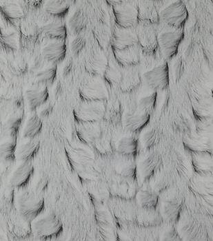 Rabbit Faux Fur Fabric-Light Gray