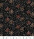 Halloween Cotton Fabric 43\u0022-Halloween Spider Webs Glitter