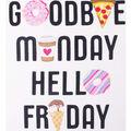 No Sew Fleece Throw Kit-Goodbye Monday Hello Friday