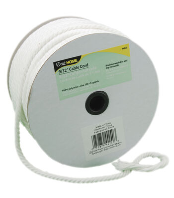"Dritz Cable Cord 9/32""X72yd-White"