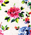 Luxe Flannel Fabric -Painted Flowers