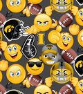 University of Iowa Hawkeyes Cotton Fabric -Emoji