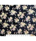 Boho Style Velvet Fabric -Burnout Yellow Floral