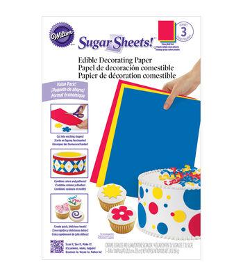 "Wilton Sugar Sheets 8""X11"" 3/Pkg""-Primary"