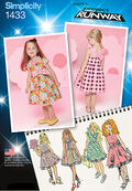 Simplicity Pattern 1433BB 4-5-6-7-8 -Toddlers Dresses