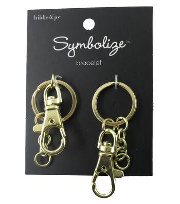 hildie & jo Symbolize 2 Pack Gold Key Rings