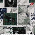Super Snuggle Flannel Fabric-Blackwatch Dear Moose