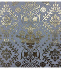 Simply Silky Print Chiffon Fabric 57\u0022-Foil Damask