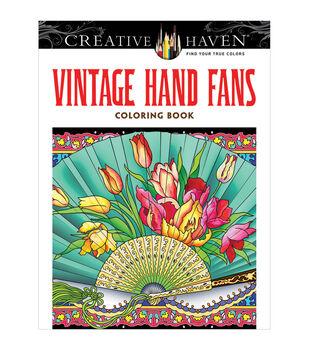 Dover Creative Haven Vintage Hand Fans Coloring Book