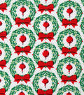 Christmas Cotton Fabric-Wreaths & Ornametns