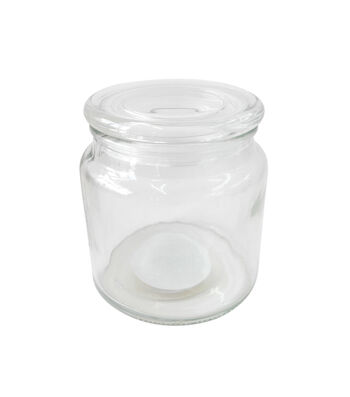Fab Lab Craft Large Decorative Glass Jar with Suction Lid
