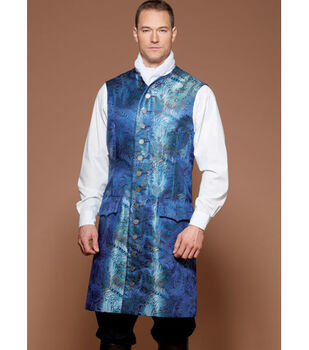 McCall's Pattern M7585 Men's Three-Quarter-Length Coat & Vest-Size 46-52