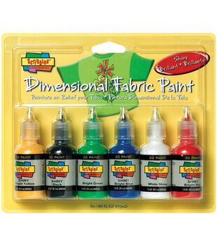 Scribbles Dimensional Fabric Paint 1 Ounce-Shiny