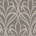 Lalique Brown Nouveau Damask Wallpaper Sample