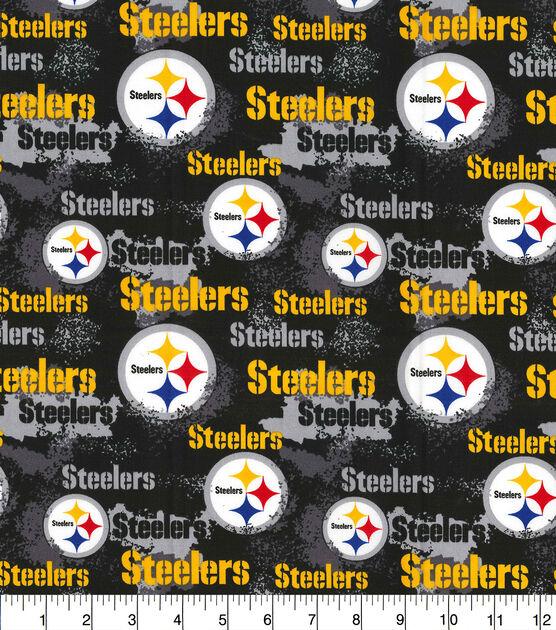 Pittsburgh Steelers Cotton Fabric Distressed Joann