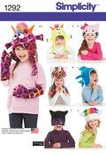 Simplicity Pattern 1292A Child\u0027s Hat & Mittens-Size S-M-L