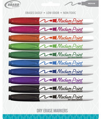 The Board Dudes 10 pk 5.5'' Medium Point Dry Erase Markers