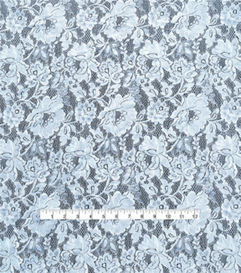 "Spring Sheen Lace Fabric 58""-Light Blue"