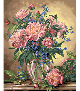 Dimensions Paint By Number Kit Peony Floral