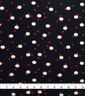 Knit Prints Rayon Spandex Fabric-Navy Red White Dots