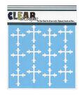 Clear Scraps 12\u0027\u0027x12\u0027\u0027 Stencils-Roman Cross