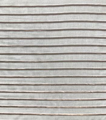 Velvet Fabric-Metallic & Rose Gold Stripes