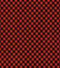 Holiday Showcase Halloween Cotton Fabric 43\u0027\u0027-Black & Orange Haunting Checkers