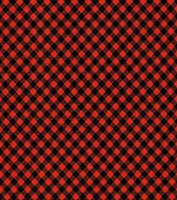 Holiday Showcase Halloween Cotton Fabric 43''-Black & Orange Haunting Checkers