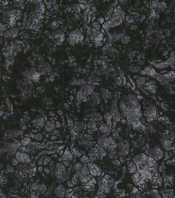 """Premium Wide Cotton Fabric 108""""-Water Drops Black"""