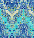 Waverly Lightweight Decor Fabric 54\u0022-Palace Sari/Prussian