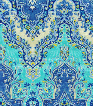 "Waverly Lightweight Decor Fabric 54""-Palace Sari/Prussian"