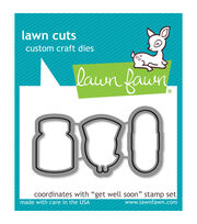 Lawn Fawn Lawn Cuts Custom Craft Die-Get Well Soon, , hi-res