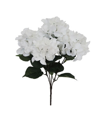 Blooming Holiday Christmas 21'' Glitter Hydrangea Bush-White