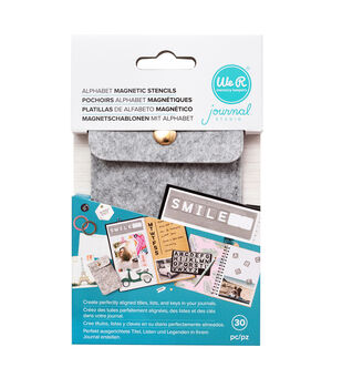 We R Memory Keepers Journal Studio Magnetic Stencil Kit-Alphabet