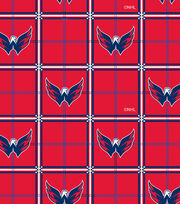 Washington Capitals Flannel Fabric-Logos in Boxes, , hi-res