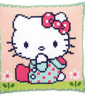 Vervaco Cushion Counted Cross Stitch Kit-Hello Kitty on the Lawn
