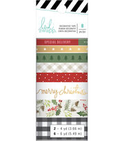 Heidi Swapp Winter Wonderland Washi Tape Rolls 8/Pkg-4 To 6 Yards Each, , hi-res