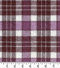 Plaiditudes Brushed Cotton Fabric 44\u0022-Purple Cream