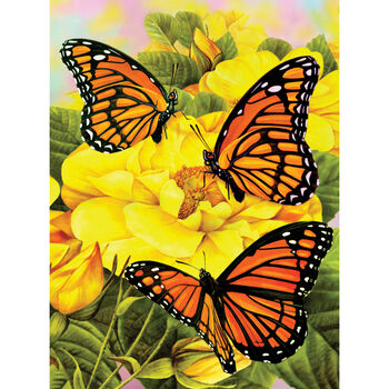 Royal Brush Junior Small Paint By Number Kit Majestic Monarchs
