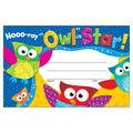 Trend Enterprises Inc. Hooo-ray Owl-Star! Recognition Awards, 30/Pack